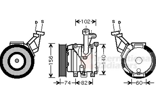 Compresseur, climatisation - VAN WEZEL - 5300K440