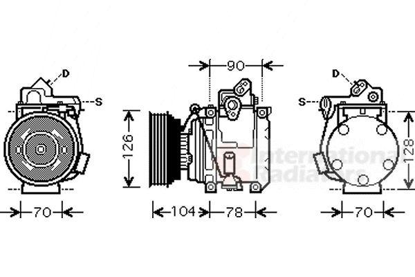 Compresseur, climatisation - VAN WEZEL - 5300K441