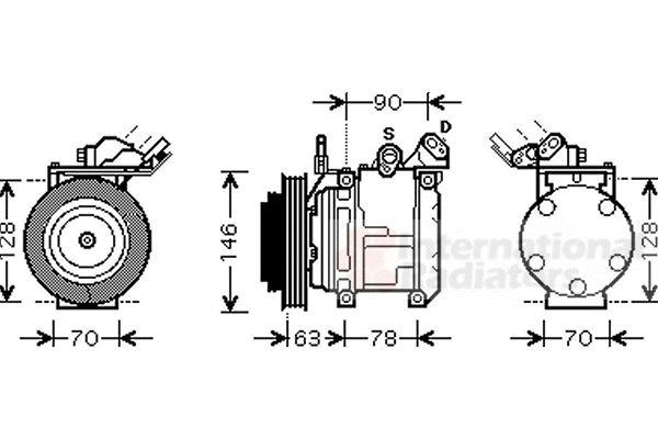Compresseur, climatisation - VAN WEZEL - 5300K442