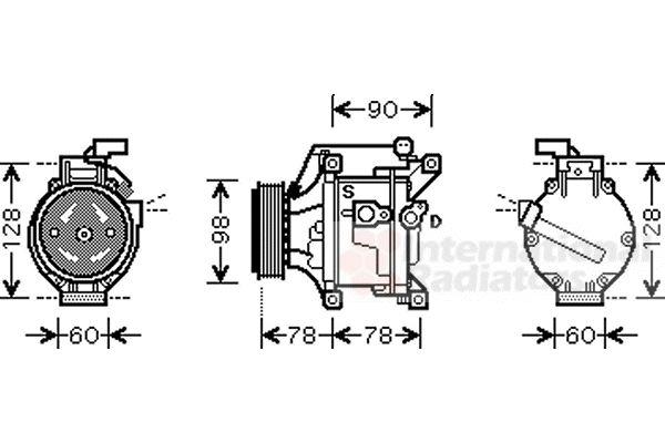 Compresseur, climatisation - VAN WEZEL - 5300K443