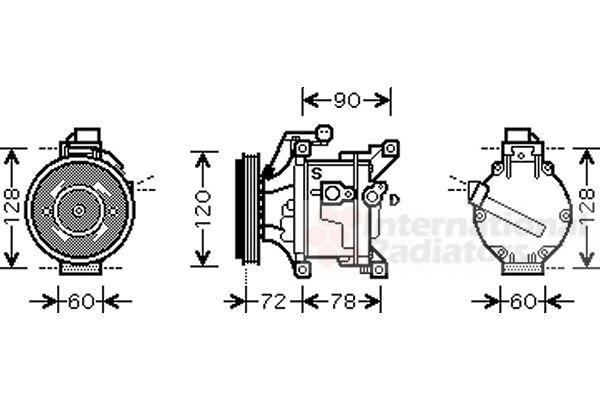 Compresseur, climatisation - VAN WEZEL - 5300K444