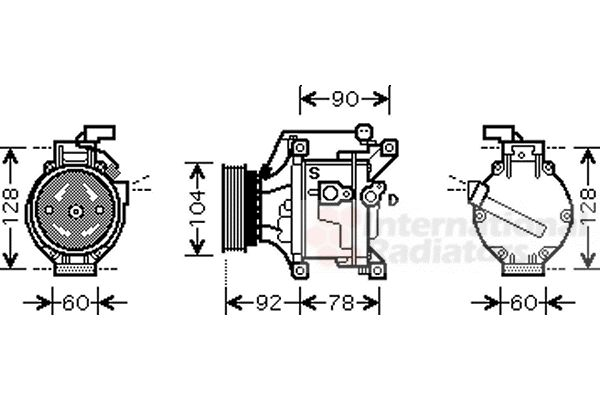 Compresseur, climatisation - VWA - 88VWA5300K446