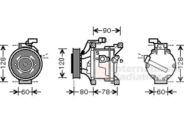 Compresseur, climatisation - VAN WEZEL - 5300K447