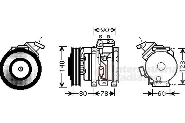 Compresseur, climatisation - VAN WEZEL - 5300K448