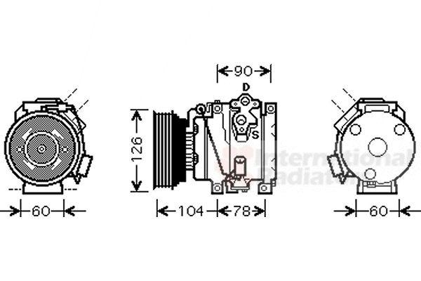 Compresseur, climatisation - VAN WEZEL - 5300K449