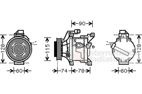Compresseur, climatisation - VAN WEZEL - 5300K450