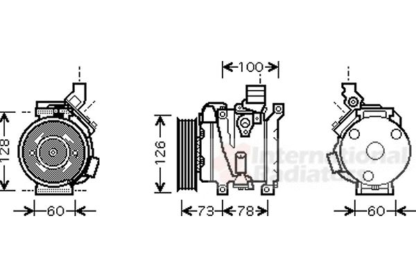 Compresseur, climatisation - VAN WEZEL - 5300K451