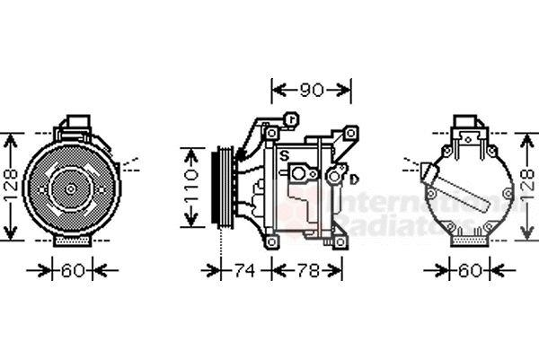 Compresseur, climatisation - VAN WEZEL - 5300K452