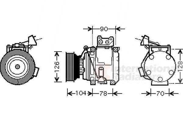 Compresseur, climatisation - VAN WEZEL - 5300K466