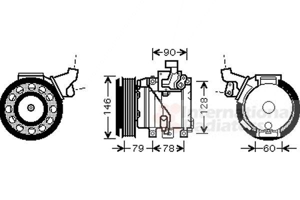 Compresseur, climatisation - VAN WEZEL - 5300K467