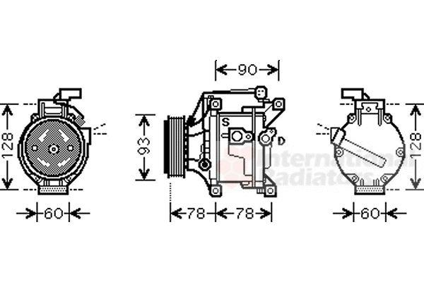 Compresseur, climatisation - VAN WEZEL - 5300K468