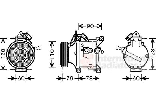 Compresseur, climatisation - VAN WEZEL - 5300K469