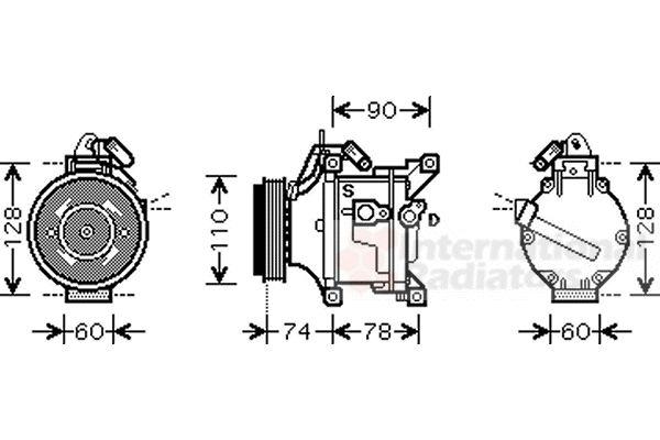 Compresseur, climatisation - VAN WEZEL - 5300K470