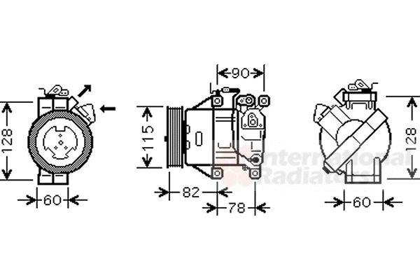 Compresseur, climatisation - VAN WEZEL - 5300K479