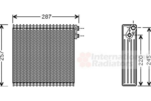 Evaporateur climatisation - VAN WEZEL - 5300V294