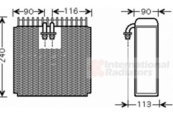 Evaporateur climatisation - VAN WEZEL - 5300V385