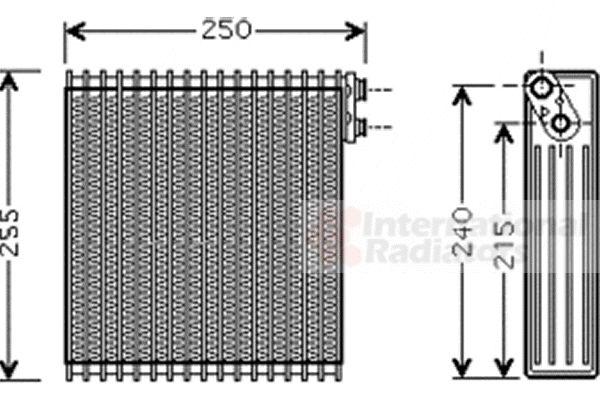 Evaporateur climatisation - VAN WEZEL - 5300V389