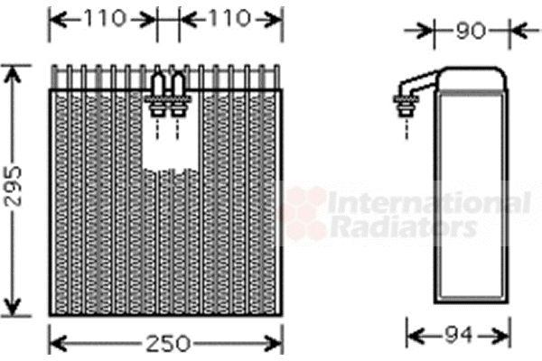 Evaporateur climatisation - VAN WEZEL - 5300V390