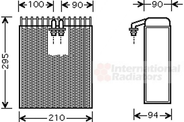 Evaporateur climatisation - VAN WEZEL - 5300V391