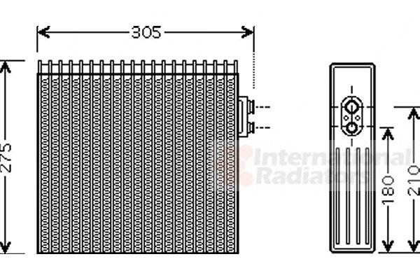 Evaporateur climatisation - VAN WEZEL - 5300V421