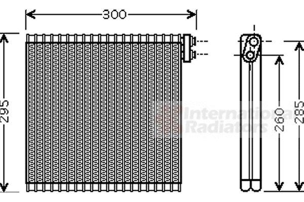Evaporateur climatisation - VAN WEZEL - 5300V483