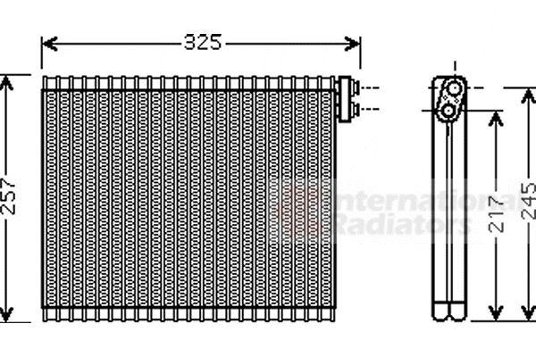 Evaporateur climatisation - VAN WEZEL - 5300V484