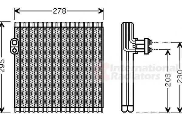 Evaporateur climatisation - VAN WEZEL - 5300V485