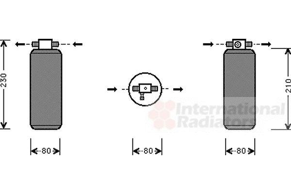 Filtre déshydratant, climatisation - VAN WEZEL - 9900D031