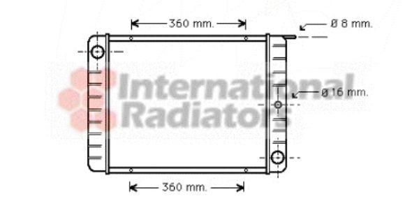 Radiateur, refroidissement du moteur - VAN WEZEL - 59002002