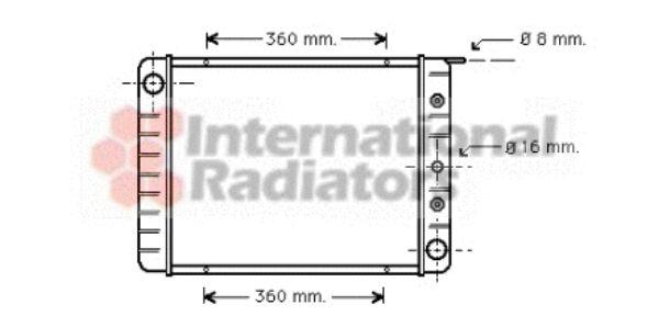 Radiateur, refroidissement du moteur - VAN WEZEL - 59002003