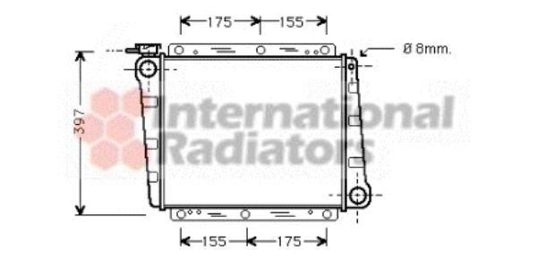 Radiateur, refroidissement du moteur - VAN WEZEL - 59002006