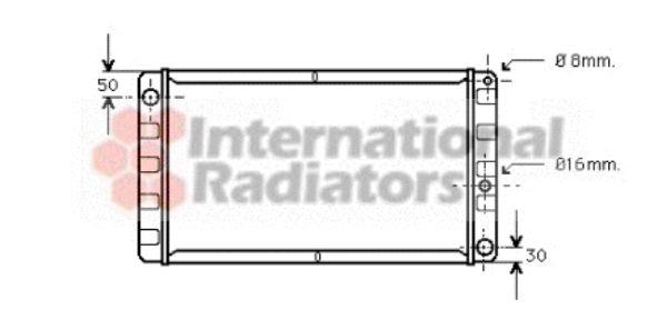 Radiateur, refroidissement du moteur - VAN WEZEL - 59002008