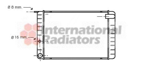 Radiateur, refroidissement du moteur - VAN WEZEL - 59002009