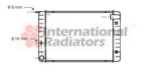 Radiateur, refroidissement du moteur - VAN WEZEL - 59002010