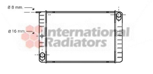Radiateur, refroidissement du moteur - VAN WEZEL - 59002013