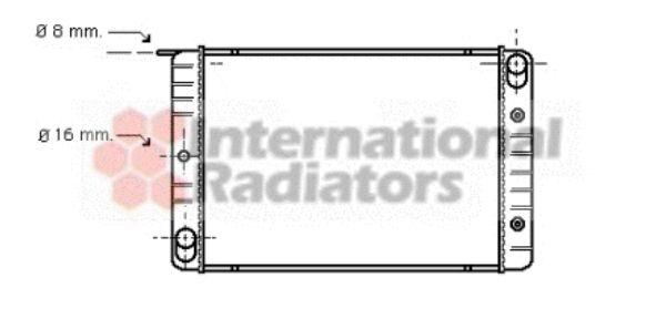 Radiateur, refroidissement du moteur - VAN WEZEL - 59002014