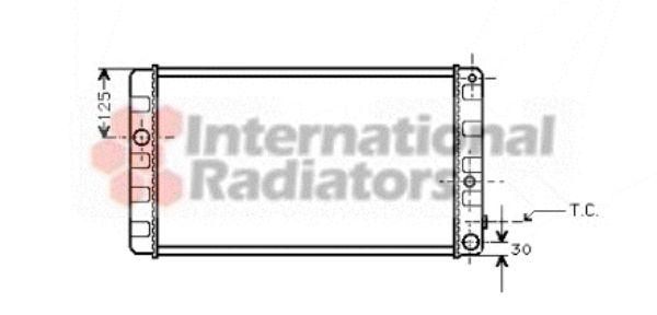 Radiateur, refroidissement du moteur - VAN WEZEL - 59002019