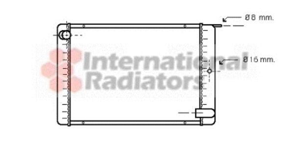 Radiateur, refroidissement du moteur - VAN WEZEL - 59002020