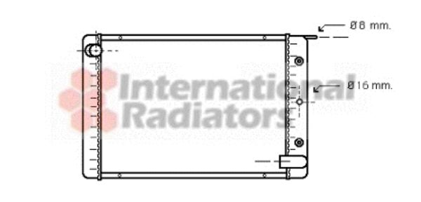 Radiateur, refroidissement du moteur - VWA - 88VWA59002021