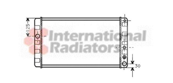 Radiateur, refroidissement du moteur - VAN WEZEL - 59002024