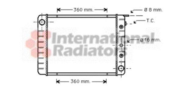 Radiateur, refroidissement du moteur - VAN WEZEL - 59002028