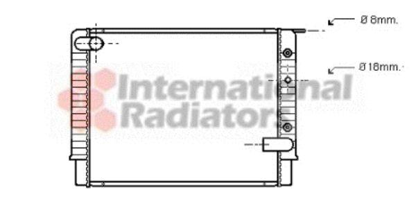 Radiateur, refroidissement du moteur - VAN WEZEL - 59002034
