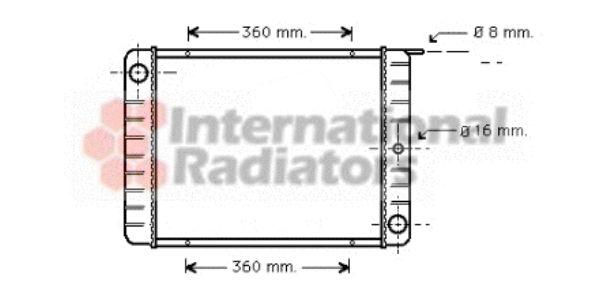 Radiateur, refroidissement du moteur - VAN WEZEL - 59002038