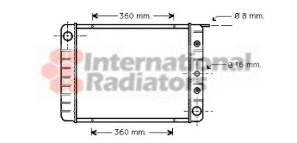 Radiateur, refroidissement du moteur - VAN WEZEL - 59002039