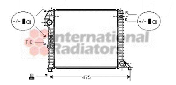 Radiateur, refroidissement du moteur - VAN WEZEL - 59002056
