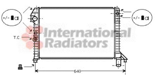 Radiateur, refroidissement du moteur - VAN WEZEL - 59002060