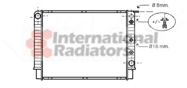 Radiateur, refroidissement du moteur - VAN WEZEL - 59002062