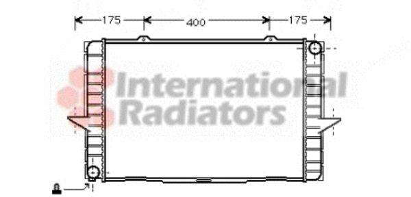 Radiateur, refroidissement du moteur - VAN WEZEL - 59002063