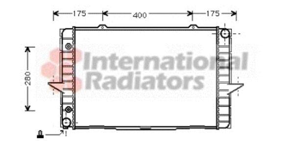 Radiateur, refroidissement du moteur - VAN WEZEL - 59002064