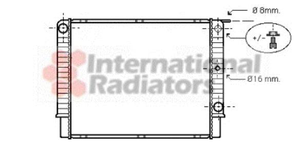 Radiateur, refroidissement du moteur - VAN WEZEL - 59002087